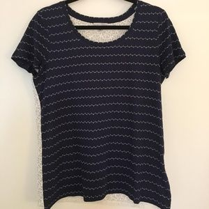 Halogen Navy top with lace back